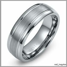 Wedding Ring New Mens Tungsten Carbide Band for Man 8 - 12