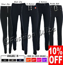 Ladies Work Trousers Smart Casual Size 4 6 8 10 12 14 16 Fitted Stretch Trousers