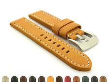 Mens Genuine Leather Watch Strap Band Marina 20mm 22mm 24mm 26mm - MM