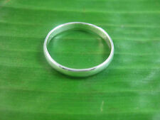 925 sterling silver plain curved 3mm wedding band size 3.75US - 12.5US available
