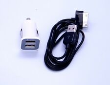 "Mini Dual USB 2Ports Car Charger 3Amp&Cable 4 Samsung Galaxy Tab 2 7.0 10.1"" LOT"