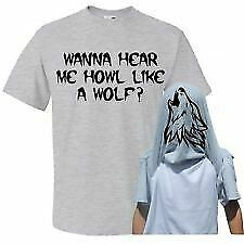 Childrens Wanna Hear Me Howl Like a Wolf  Flip T-Shirt - Kids Funny