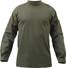 Olive Drab Solid Tactical Heat Resistant Lightweight Combat Shirt