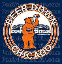 CHICAGO BEARS 2013 tshirt BEER DOWN shirt BEAR DOWN soldier field NEW football