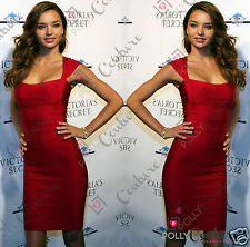 Womens Celeb Style Black Bandage Ribbed Ribbed Bodycon Sexy Evening Party Dress