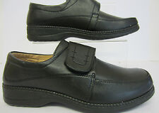 Calais Black Pu Velcro Ladies Shoe Sizes UK 3 X 8  (R8A)