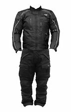 BLACK ASH MOTORCYCLE CORDURA PANT & JACKET COMBO WITH CE APPROVED BODY ARMOR