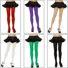 Plus Size Nylon Spandex Tights Adult Womens Hosiery Leggings Opaque Solid Colors