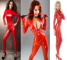 Gothic Halloween Costume Red Catsuit Playsuit Romper Stripper Clubwear 3 Styles