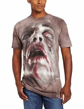 Zombie Face Walking Dead Authentic The Mountain Adult T-Shirt