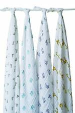 Aden + Anais Muslin Swaddle Blankets, 4-pk, New, 14 prints available