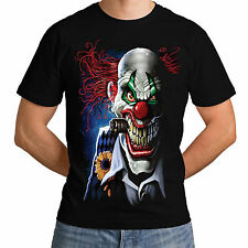 Joker Clown Mens Women T-Shirt Circus Horror Evil Demon Carnival Top Punk *h13