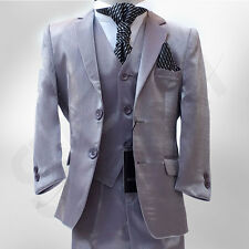 NEW BOYS LIGHT GREY SUIT ITALIAN CUT PAGEBOY WEDDING PROM SUIT AGE 3 TO 15 YRS