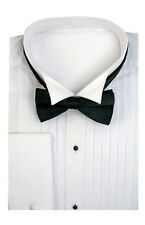 Men's Tuxedo Dress Shirt Wing Collar with Bow-Tie Set French Cuff  Size 15~20