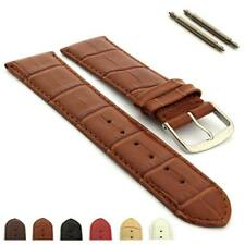 Mens Womens Leather Watch Strap Band Croco Louisiana 18mm 20mm 22mm 24mm