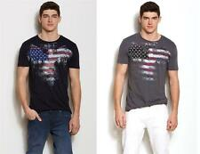 New Armani Exchange A|X Mens Slim/Muscle Fit Eagle Flag Tee Shirt