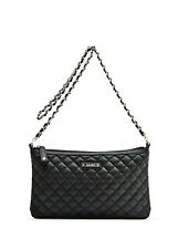 MANGO MNG Quilted Handbag Leather Vintage Chain Crossbody Messenger Zipper Bag