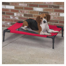 Dog Pet outdoor portable bed elevated cooling Cot w/ Mesh Panel UV fabric 4 size