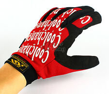Mountain Climbing Driving Cycling Bike Bicycle Sports Full Finger Gloves Size M