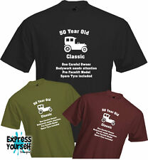 50 YEARS OLD - ONE CAREFUL OWNER, 50th BIRTHDAY T Shirt, Present, Quality, NEW