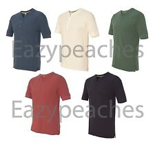 Alternative Apparel NEW Mens Size Retro Jersey Short Sleeve Henley T-Shirt 2055