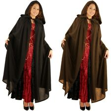 Hooded Cloak Adult Medieval Renaissance Costume Halloween Fancy Dress