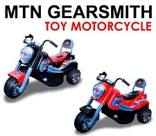 New Battery Powered Kids Ride On Toy Chopper Motorcycle Car 3 Wheel