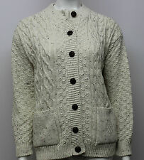 UK Made Chunky Knit 2 Pocket Cable Cardigan sizes 12,14,16,18,20,22