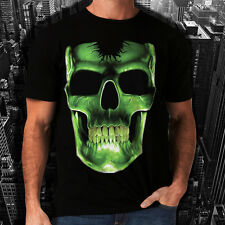 New Mens Women Glowing Skeletal Gothic Skull T-Shirt Skeleton Tattoo Reaper *h56