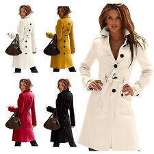 Hot Luxury Womens Belted Long Cashmere Coats Winter Work/Dating/Outdoor Overcoat