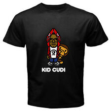 KID CUDI with Baby Milo Rap Hip Hop Music Singer Men's Black T-Shirt Size S-3XL