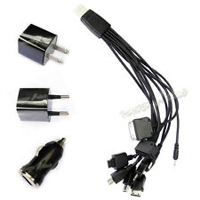 Lot 10 in 1 multi-function USB Charger Cable For Cell phone iPhone iPod Samsung