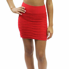New Sexy Seamless Stretch Pull Up Fitted Ruched Skirt One Size 10 Colors CH5000