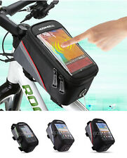 Cycling Bike Bicycle Frame Pannier Front Tube Phone Bag Case Pouch Holder 3 Size