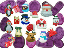 Christmas Xmas cake decoration mould mold cupcake topper icing fimo decorations