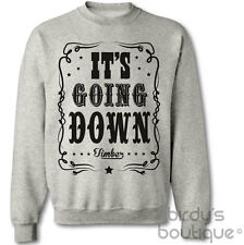 IT'S GOING DOWN TIMBER KESHA & PITBULL JUMPER TOP WESTERN COW GIRL BOY SWEATER T