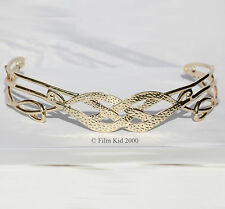 ROYAL KING ELROND GOLD CROWN CIRCLET HOBBIT LOTR LORD OF THE RINGS TIARA ELVEN