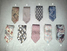 STAFFORD 100% Silk Multicolor Paisley Geometric Mens Neck Ties NEW Choose Color