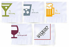 Funny Cocktail Drink Bar Napkins- Pack of 50- Beer Wine Martini Beverage Party