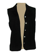 BLACK plain Vest with rhinestone buttons   XS-S-M-L-XL-1X-2X-3X