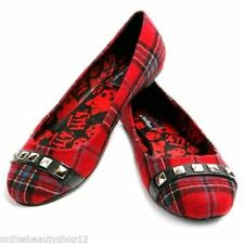 ABBEY DAWN BY AVRIL LAVIGNE MFP BALLERINA FLAT SHOE TARTAN SIZE - 5 TO 8