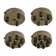 AGED BRASS Ceiling Rose Multi Outlet with CORD GRIP 1 2 3 4 5 6 7 Way Outlet
