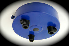 GLOSS BLUE Ceiling Rose Multi Outlet with CORD GRIP 1 2 3 4 5 6 7 Way Outlet