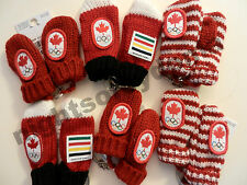 Hudson's Bay Company HBC CANADA Olympic team official Red Mittens Keychain