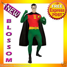 C826 Licensed Robin 2nd Skin Suit Zentai Halloween Fancy Dress Adult Costume