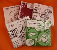 DINNER PARTY GAME NAPKINS Keep your guests amused