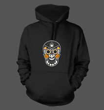 Sugar Skull Halloween - Men's Hoodie Sweatshirt Bats Pumpkins Scary Spiders #184