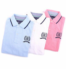 Tommy Hilfiger Men Solid Pique Mesh Rugby Logo Polo Shirt Classic Fit - $0 Ship