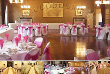 18 Colors Organza Chair Sashes Bow Wedding Cover Banquet Decoration party