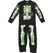 Boys Bedlam Halloween Skeleton Novelty Dress Up Glow In The Dark Pyjamas 3-12yrs